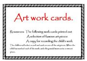 English Worksheets: Art work cards