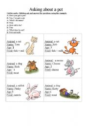 English Worksheets: Asking about a pet.