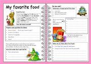English Worksheets: My favorite food
