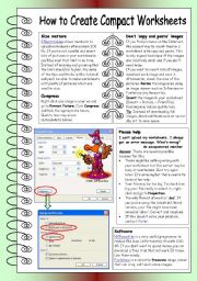 English Worksheet: How to Create Compact Worksheets