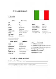 Printables Italian Language Worksheets english teaching worksheets italy instant italian