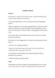 English Worksheets: Understatements