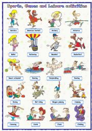 English Worksheet: Sports, games and leisure activities: Pictionary (1 of 4)