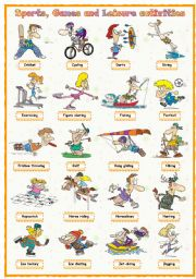 English Worksheet: Sports, games and leisure activities: Pictionary (2 of 4)