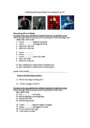 English Worksheet: I  STILL HAVEN´T FOUND WHAT I´M LOOKING FOR by U2