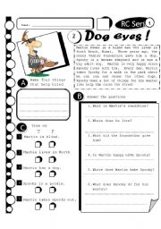 English Worksheet: RC Series 20 - Dog Eyes (Fully Editable + Answer Key)