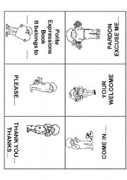 English Worksheets: Polite Expressions Mini Book