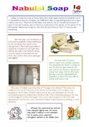 English Worksheets: What do you know about Palestine? part 4 - Nabulsi soap