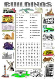 English Worksheet: Types of Buildings