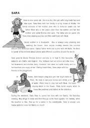 English Worksheets: Comprehension - Sara