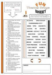 Fun Sheet Themes: Drugs