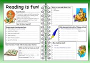 English Worksheets: Four Skills Worksheet - Reading is Fun