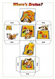 English Worksheet: Prepositions dice + cards