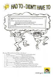 english teaching worksheets have to. Black Bedroom Furniture Sets. Home Design Ideas