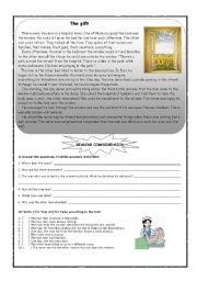 English Worksheets: The Gift