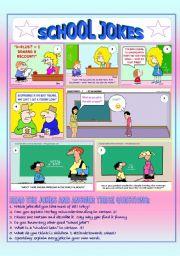 English Worksheet: School Jokes