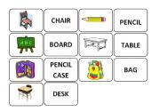 School objects memory game part 2