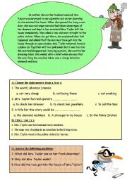 English Worksheets: Un Lucky thief