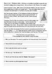 Harriet Tubman | Worksheet | Education.com