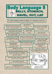 English Worksheets: BODY LANGUAGE 8