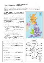 English Worksheets: England and its geography