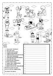 hobbies and activities esl worksheet by ilona. Black Bedroom Furniture Sets. Home Design Ideas