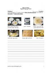 English Worksheets: Process writing