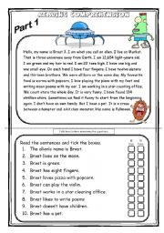 Printables Elementary Reading Comprehension Worksheets english worksheets reading comprehension page 29 the