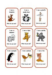 English Worksheets: SEE cards 1