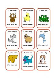 English Worksheets: SEE cards 2