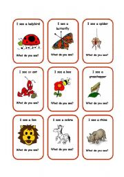 English Worksheets: SEE cards 3