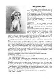 The dog and three dollars (after Mark Twain )