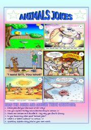 English Worksheet: Animals jokes