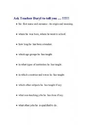 English Worksheets: Ask Your Teacher .... !