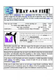 English Worksheets: What are Fish?