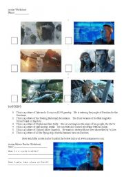 English Worksheet: Avatar Movie Exercise (Don�t Need To Have Seen The Movie!)