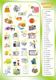 English Worksheets: SHOPPING - nouns - matching