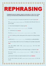 REPHRASING AND WORD FORMATION