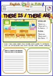 English Worksheet: THERE IS /THERE ARE