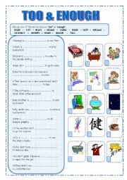 English Worksheets: TOO&ENOUGH
