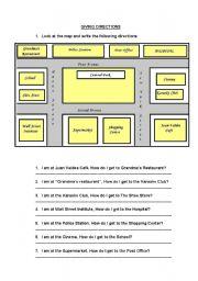 giving directions esl worksheet by kotetina. Black Bedroom Furniture Sets. Home Design Ideas