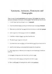 17 Best images about Homographs Worksheets | Homographs and Worksheets