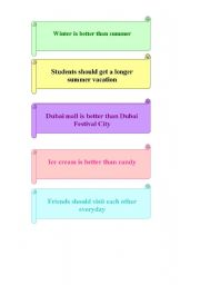 English Worksheets: Express your opinion