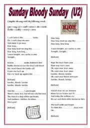 English Worksheets: Sunday Bloody Sunday
