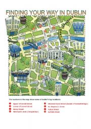 English Worksheet: DIRECTIONS - FINDING YOUR WAY IN DUBLIN