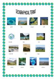English worksheets: Geographical terms