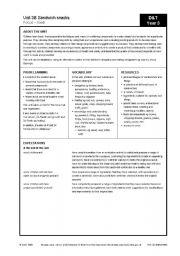English Worksheets: making sandwiches
