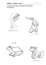 English Worksheets: The clever lizard and the crazy snake