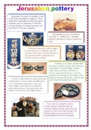 English Worksheets: What do you know about Palestine? part5 - Jerusalem pottery