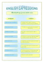 English Worksheets: English expressions
